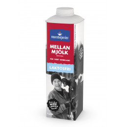 Mjölk Mellan Laktosfri, 1L